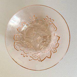 Vintage Pink Glass Bowl